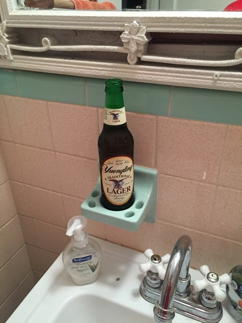 beer bathroom toothpaste funny