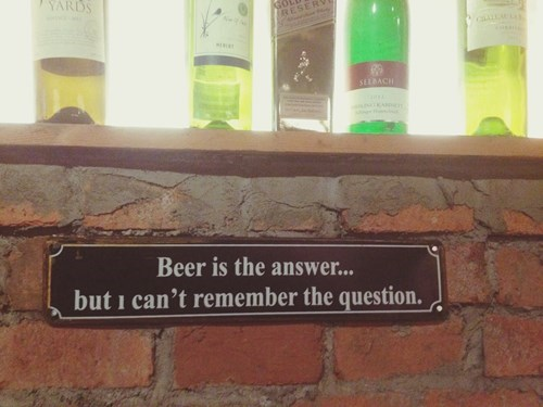 question beer sign funny - 8407982080