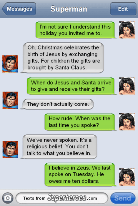 christmas Zeus wonder woman superman - 8407984896