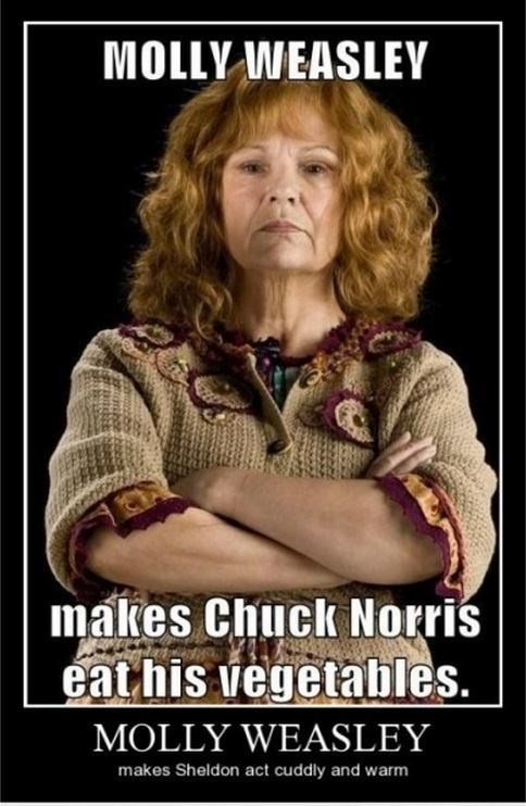 vegetables chuck norris molly weasley funny - 8407993600