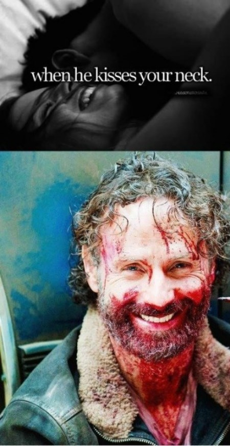 just girly things,Rick Grimes,biter