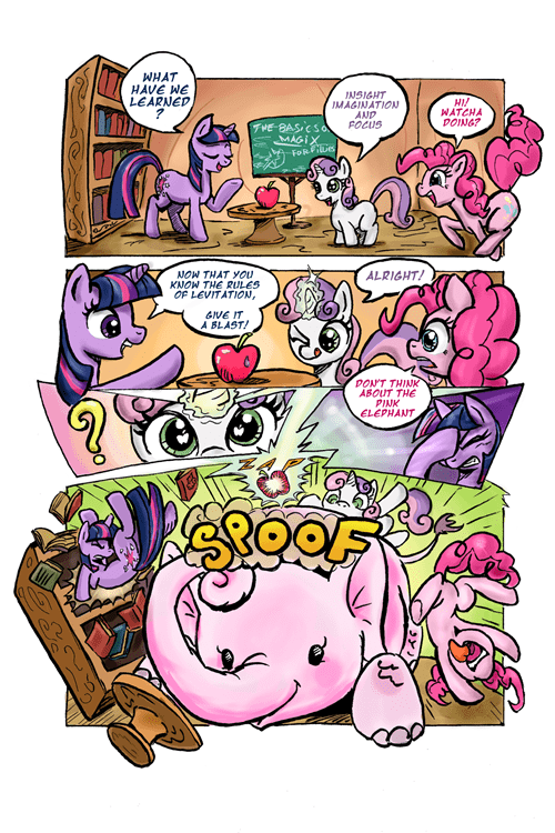 twilight sparkle pinkie pie web comics magic - 8408023296