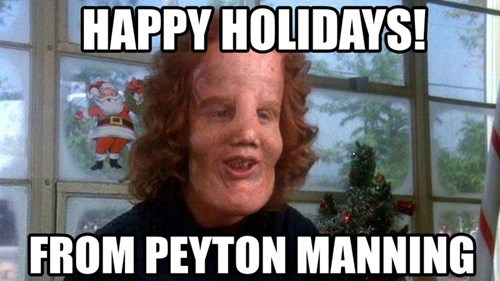 peyton manning butterface happy holidays - 8408345856