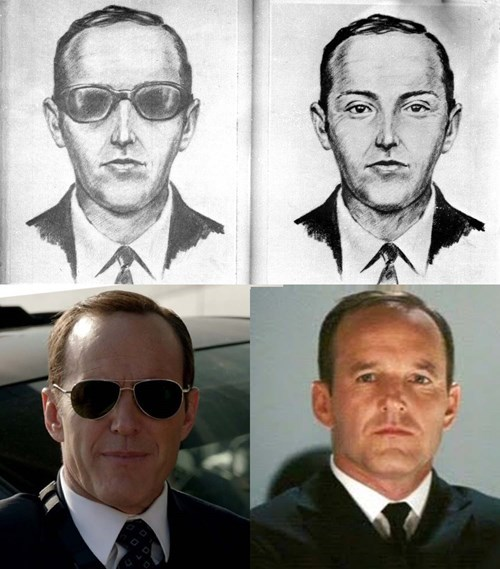 agent coulson db cooper totally looks like agents of shield - 8408358400