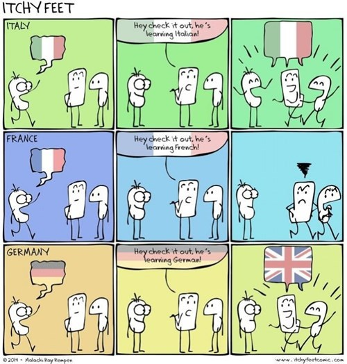 languages Italy Germany france web comics - 8408363008