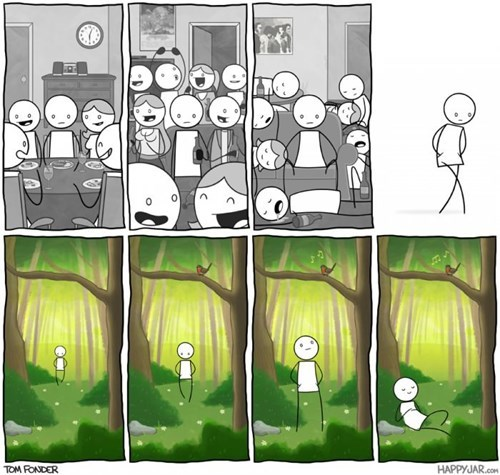 Forest partying web comics