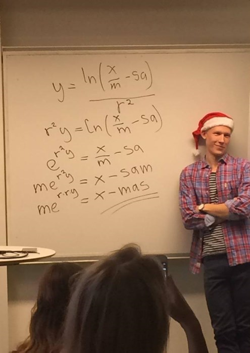 christmas smug math funny g rated School of FAIL