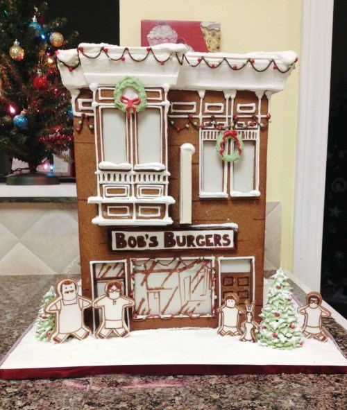 christmas bobs burgers cartoons gingerbread house - 8408532224