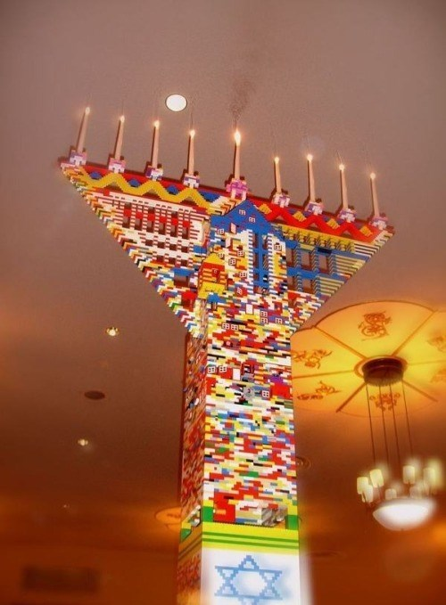 hanukkah,lego,menorah