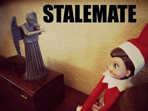 elf on the shelf weeping angels dont-blink - 8408554240
