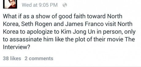 kim jong-un,Seth Rogen,clever,North Korea,James Franco,the interview,failbook,g rated