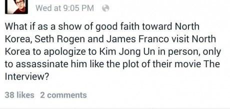 kim jong-un Seth Rogen clever North Korea James Franco the interview failbook g rated - 8408630528
