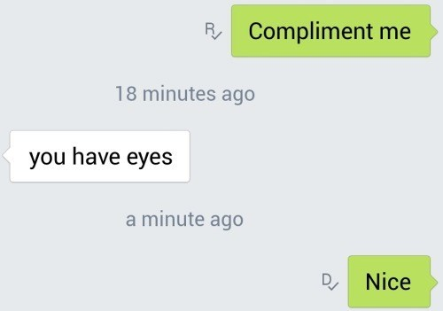 compliment flirting texting