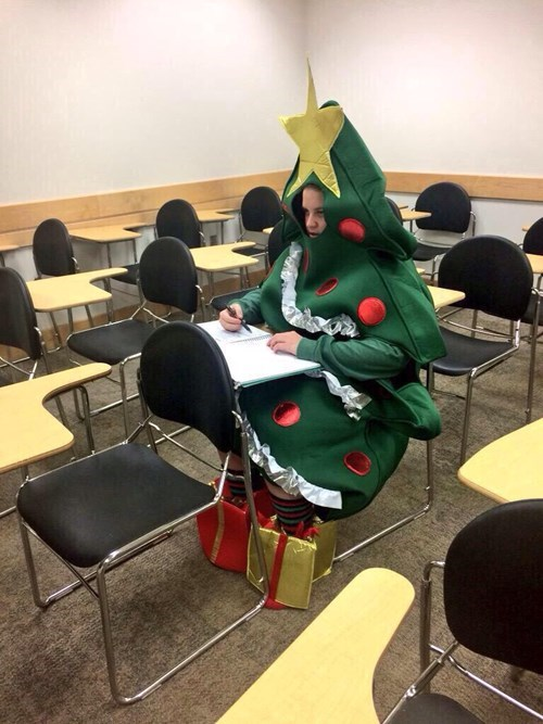 costume,christmas,school,poorly dressed,classroom,christmas tree,g rated