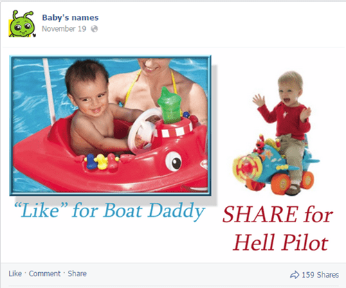 Babies,cringe,shares,facebook,names