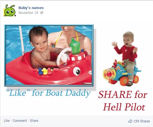 Babies cringe shares facebook names - 8408645888