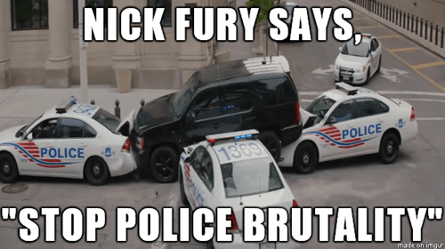 Nick Fury winter soldier captain america police - 8408660736