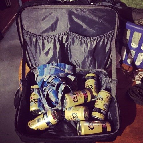 A suitcase full of beer will get you through the holidays