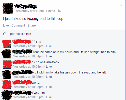 cops rebel watch out we got a badass over here failbook
