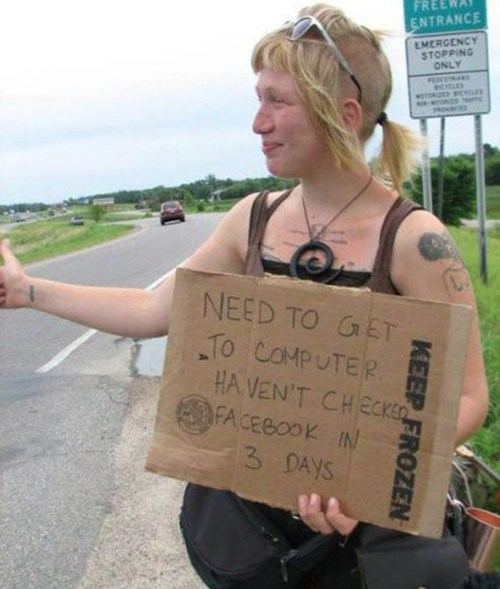 sign,facebook,hitchhiking