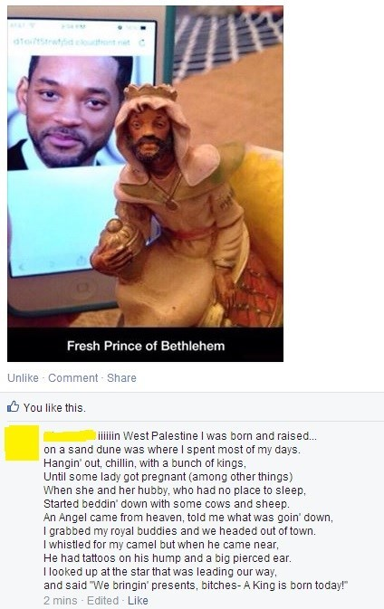 christmas fresh prince Nativity will smith failbook g rated - 8408855040