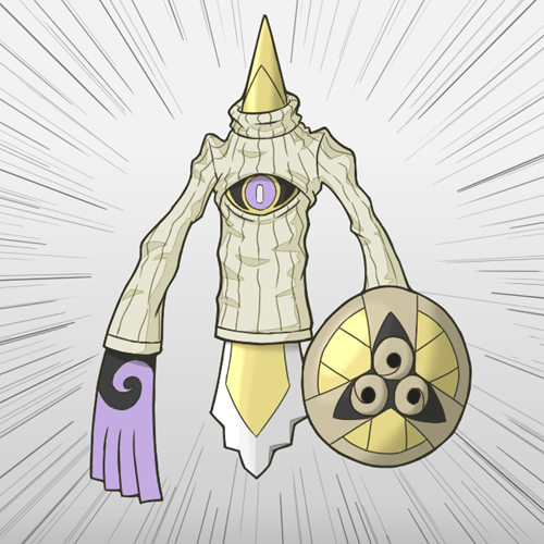 Pokémon,keyhole turtleneck,aegislash