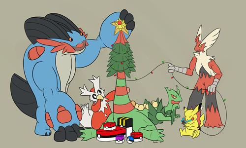 christmas mega sceptile Pokémon ORAS staryu mega evolution - 8408941568