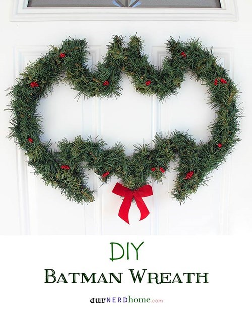 christmas,wreath,batman,DIY