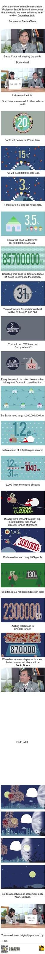 Science predicts Santa will destroy earth
