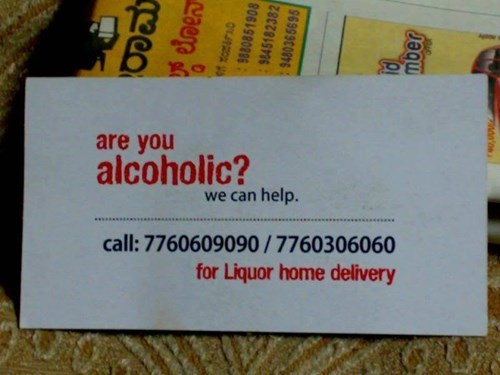 depressing alcoholic liquor funny delivery - 8409386240