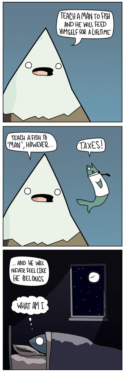 sad but true mountains fish web comics - 8409386752