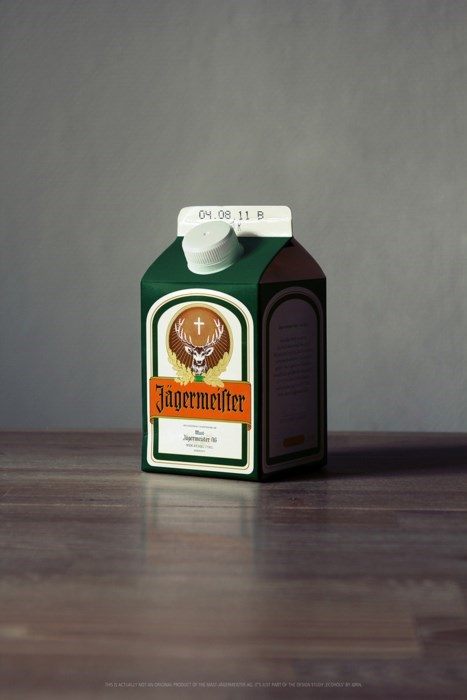 breakfast milk jagermeister funny - 8409388544