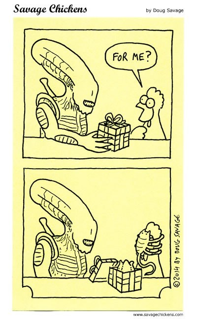 christmas Aliens xenomorphs web comics