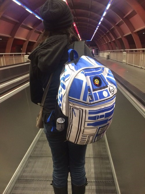 r2d2,star wars,poorly dressed,backpack