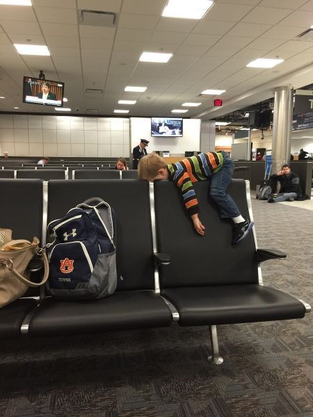 kids airport parenting