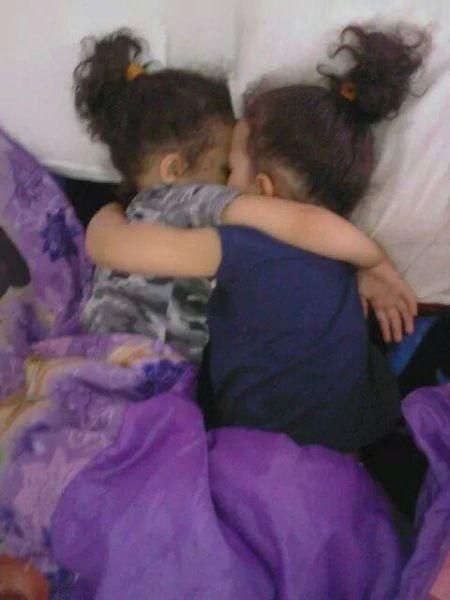 kids cute parenting twins sleeping - 8409537280