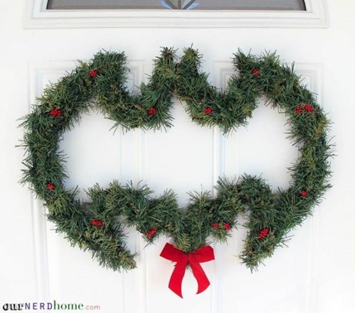 christmas decoration wreath batman - 8409569280