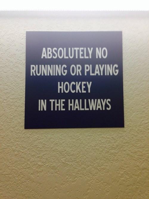 Canada warning sign hockey