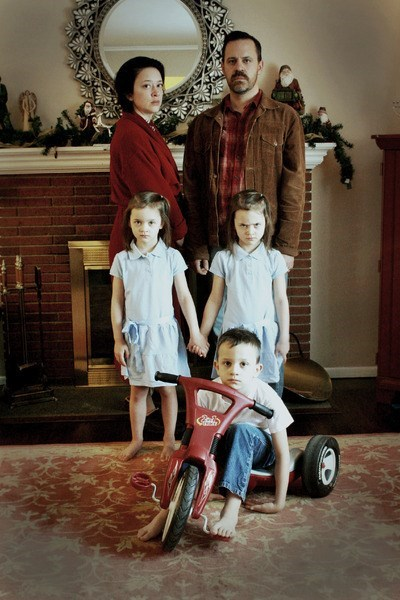 christmas kids family photo parenting the shining