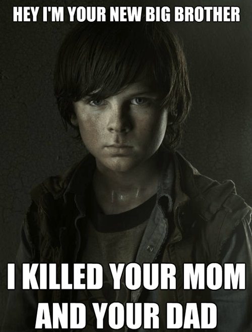 murder brother carl grimes - 8409592320