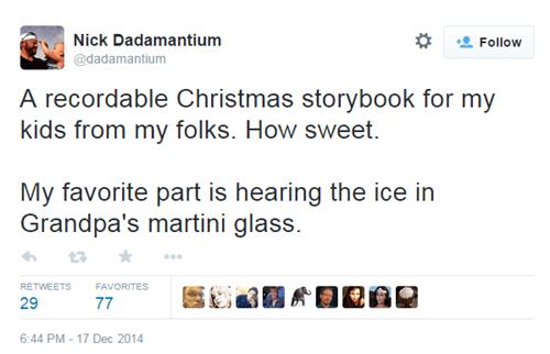 christmas twitter martini kids parenting Grandpa - 8409807872