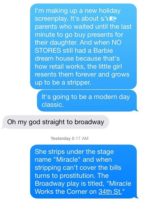 stripper christmas texting cool story bro failbook - 8410198784