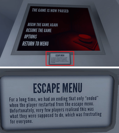 gaming,escape menu