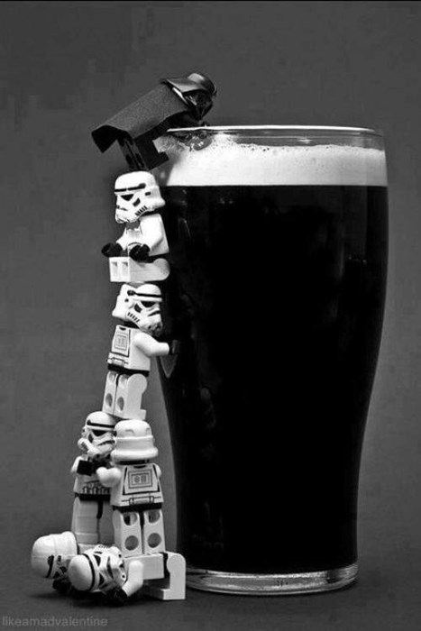 beer,star wars,guinness,dark side,funny