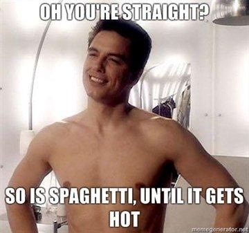 spaghetti,gay,straight,funny