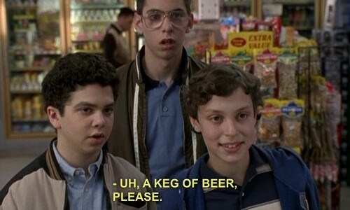 beer,freaks and geeks,underage,funny,keg