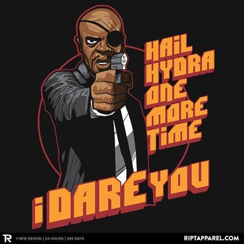 Nick Fury,tshirts,The Avengers,for sale,pulp fiction
