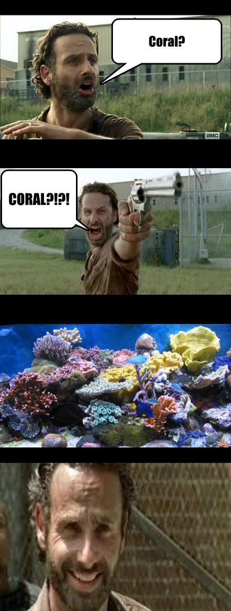 coral puns The Walking Dead web comics