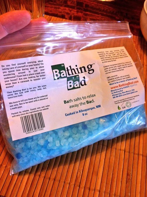 A picture of breaking bad bath salts as a christmas gift