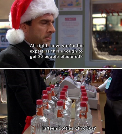 Michael from the office buys too much vodka